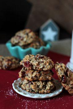 Frühstücks-Kekse mit Cranberrys und Kürbiskernen*/Sasibella