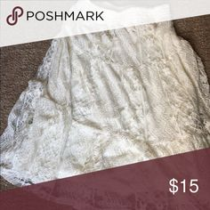 Beautiful lace skirt This skirt has only been worn a handful of times. It has loops if you would like to wear a belt with it. Rue 21 Skirts Midi