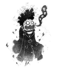 "Teemu Juhani on Instagram: ""Inktober Day 2: Zombie Burp 🧟♂️ . . #inktober #inktober2019 #inktoberday2 #ink #drawing #illustration #zombie #halloween #skulls…"" Halloween Illustration, Halloween Drawings, Inktober, Halloween Themes, Aesthetic Art, Illustrators, Whimsical, Character Design, Skull"
