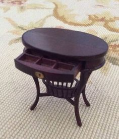 "Bespaq Handcrafted Mahogany Side table measures approximately 1 3/4"" Wide, 2 1/2"" Tall, and 1 1/4"" Deep."