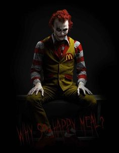 This is one scary Ronald McDonald