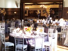 Wisteria Flowers and Gifts | Decorated dining room for corporate event