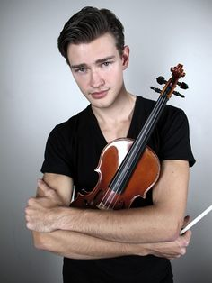 Whoa, wait, what's that now? Filip Pogády is a Ford model and a violin student at the Manhattan School of Music? Wow, universe, you really broke the mold with this one. The 23-year-old is originally from Slovokia but grew up mostly in Linz, Austria. He was encouraged by friends to pursue modeling, which he did begrudgingly but successfully. And we're sure glad he took their advice!
