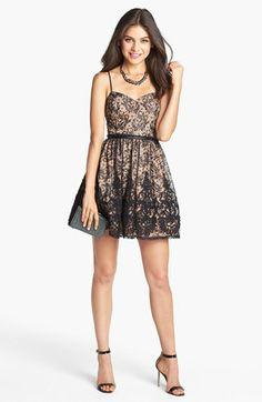 adf7f168b7 Way-In Lace Fit  amp  Flare Dress (Juniors) available at  Nordstrom
