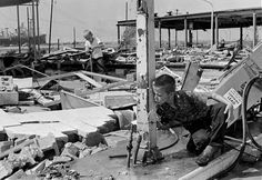 1969 - Hurricane Camille Dates active: August 14 - 22 Peak classification: Category 5 Sustained wind speed: 175 mph (280 km/h) Areas affected: Cuba, United States Gulf Coast Deaths: 256 Damage: $1.42 billion (Pictured) Carl Wright, 11, drinks water from a broken pipe amid the ruins of his father's service station in Gulfport, Mississippi, on Aug. 19, 1969, in the aftermath of Hurricane Camille.