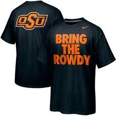 Nike Oklahoma State Cowboys Basketball Bring The Rowdy Campus Roar T-Shirt -Black