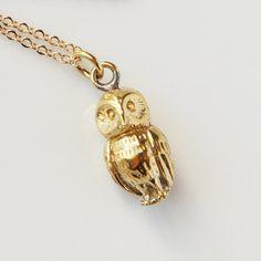 Golden Owl Necklace.