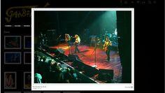 Página com a foto ampliada, na galeria, do site da banda Gambiaha