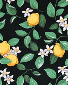 Tablecloth black green yellow lemonstable decoration by SiKriDream Vegetable Prints, Textile Fabrics, Gift Table, Surface Pattern Design, Scandinavian Design, Cute Wallpapers, Color Combos, Flower Power, Plant Leaves
