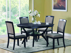 Coaster Memphis 5 Piece Dining Table and Chair Set - Coaster Fine Furniture Square Dining Tables, Pedestal Dining Table, Dining Table Chairs, Dining Room Furniture, Coaster Furniture, Fine Furniture, Dining Rooms, Furniture Ideas, Round Dining