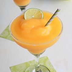 Frozen mango-lime margaritas recipe