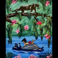 """The Bear Necessities"" Acrylic on 16x20"" canvas. Gotta love the original Disney…"
