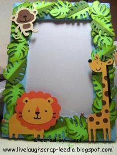LiveLaughScrap Jungle Safari Picture Frame