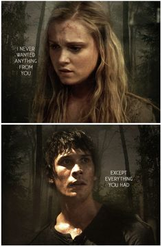 The Rebel Leader and The Brave Princess    Bellamy Blake and Clarke Griffin    The 100    Bellarke    Bob Morley and Eliza Taylor