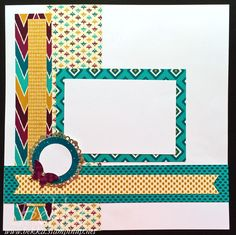 Scrapbook Start Point Page featuring Bohemian DSP from Stampin' Up! UK - check this out