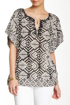 Scarf Print Shirt by Lucky Brand on @HauteLook