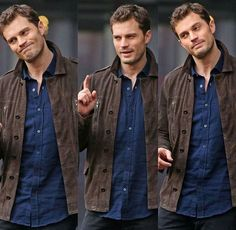 Jamie Dornan on set Fifty Shades Darker in Vancouver March 7 Christian Grey, Jamie Dornan, Fifty Shades Darker, Fifty Shades Of Grey, Dakota Johnson Movies, Anastasia Grey, Fifty Shades Series, Mr Grey, Bae