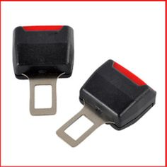 2 Unids Universal enchufe de los Cinturones de Coche Clip de Cinturón de Seguridad Ajustable Negro Rojo PULSE el botón Auto Cinturón de Extensión Del Suplemento Clip