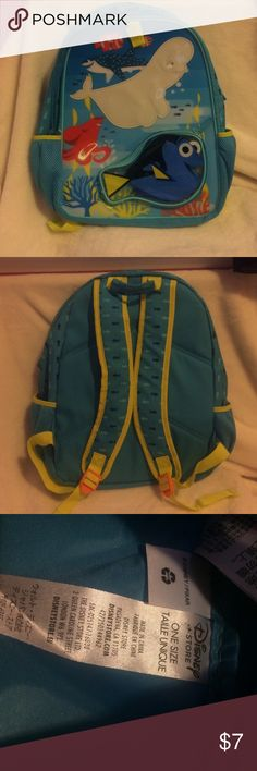 "Disney store- Finding Nemo backpack. Used a few times. But great condition. No signs of wear, no stains or flaws. Super cute kids Finding Nemo backpack from The Disney Store. Measures appx 16"" (height) by 14"" (wide) Other"