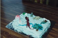 7th in Birthday Cake Creations series: Sticking with dinosaurs, but hey mama, can I please have a volcano?
