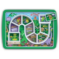 Fred & Friends 5202956 Fred Winner Kid's Dinner Tray, Dino Time, 30 x x cm, Hidden Vegetable Recipes, Hidden Vegetables, Toddler Plates, Kids Plates, Toddler Food, Pizza Box Oven, Picky Eaters Kids, Childrens Meals, Board For Kids