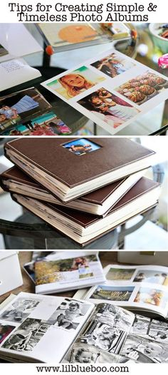 Tips for Creating Simple and Timeless Photo Albums via lilblueboo.com