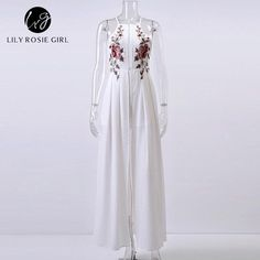 Floral Embroidery Sexy Playsuits Women Strap Off Shoulder Party Evening White Rompers Jumpsuit Backless Autumn Girls Overalls