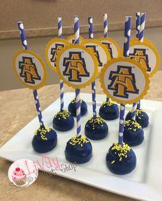 North Carolina Agricultural and Technical State University School Logo Cakepops and Cupcakes  #livaysweetshop #Today #bakery #cupcakes #cakes #plainfieldnj #happy #sweet #haveasweetday