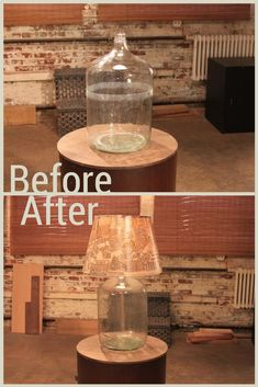 A Lone Glass Jug Transforms Into a Lamp