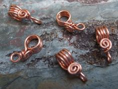 PurpleLily Designs, Handmade Wire Bails(sterling silver, Copper, & Brass)