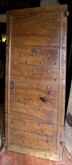 Porte en vieux chêne à 2 vantaux  Portes du0027entree  Portes Antiques - porte d entree d occasion