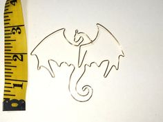 Dragon Bookmark by Wirelings on Etsy