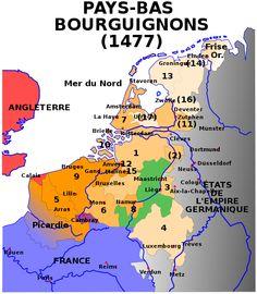 La carte  reprend une variante des 17 provinces communément admises . Les ducs…