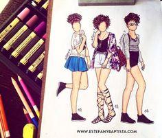 Estefany Baptista | Fashion Blog: Look Ilustrado: Ana Lídia Lopes