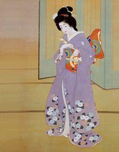 Japan, hanging scroll, Uemura Shoen (1875-1949 )