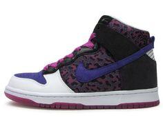 new arrival e9243 13c7c Chaussures Nike Dunk High Blanc Bleu Noir Rose nike11809 - €
