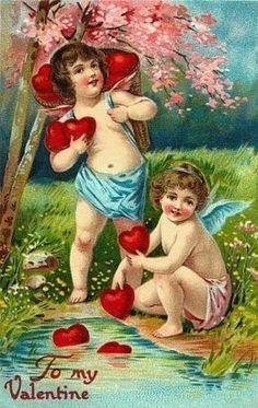Another vintage Valentine postcard.............lbxxx.
