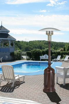 The PC02CAB Vintage Propane Patio Heater In Bronze By Patio Comfort  Combines The Classic And Elegant