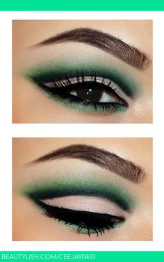 Green Cut Crease | Ceejay F.'s (Ceejay0403) Photo | Beautylish