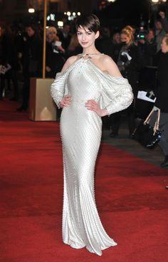 Anne Hathaway - premiere de Los Miserables en Londres - Givenchy de la colección Primavera-Verano 2012 de Alta Costura.