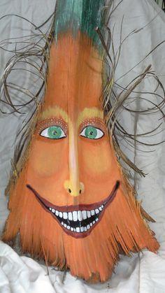 Halloween Pumpkin Tikki Man Palm Frond