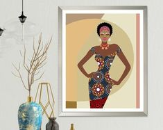 Mother and Child Art Black Woman Poster Mums Birthday Gift African American Art, African Art, African Quilts, Mum Birthday Gift, African Paintings, Women Poster, Office Prints, Dachshund Gifts, Painting Of Girl