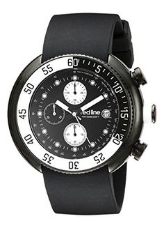 Men's Wrist Watches - red line Mens 50038BB01WBBZ Driver Chronograph Black Dial Black Silicone Watch -- Read more reviews of the product by visiting the link on the image.