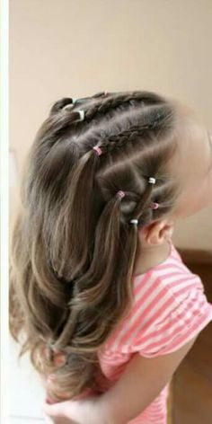 30 Super Cute Hairstyles For Little Girls - June 29 2019 at Easy Toddler Hairstyles, Girls Hairdos, Cute Little Girl Hairstyles, Baby Girl Hairstyles, Girl Haircuts, Winter Hairstyles, Cute Hairstyles, Braided Hairstyles, Toddler Hair Dos