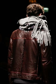 Detail of Salvatore Ferragamo Fall 2015.