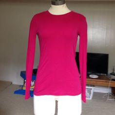 Long sleeve J. Crew fuscia T. Long sleeve J. Crew fuscia T. J. Crew Tops