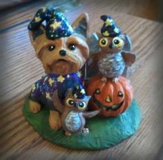 Yorkie Wizard and Friends (SOLD)
