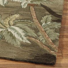 palm leaf area rug - Google Search