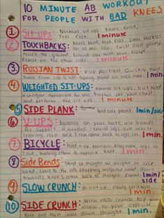 Ab workout for people with bad knees!