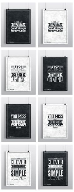 Typography Poster Set No.1 by Matt Edson by Matt Edson, via Behance